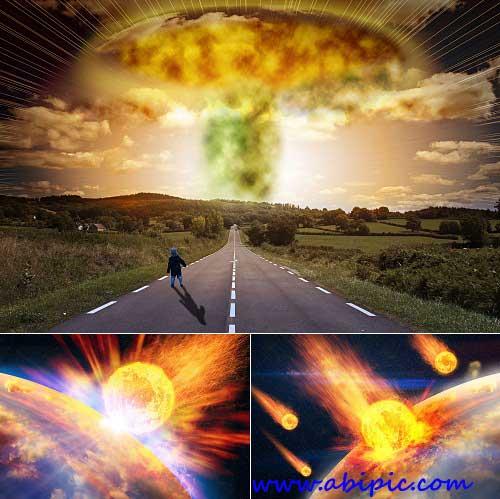 دانلود تصاویر استوک نابودی زمین و آخر الزمان Apocalypse Stock Photos