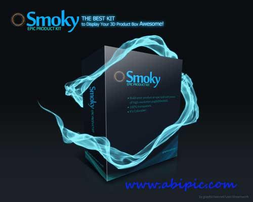 دانلود ابزار ساخت افکت دودی Smoky the EPIC Product KIT