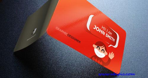 دانلود طرح لایه باز کارت ویزیت تاشو شماره Creative Business Card Vol 2