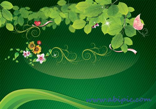 دانلود بکگراند لایه باز بهار و عید نوروز Spring and Norooz Background PSD