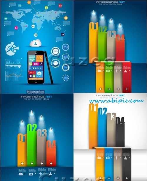 دانلود وکتور عناصر طراحی اینفوگرافیک Infographics design template