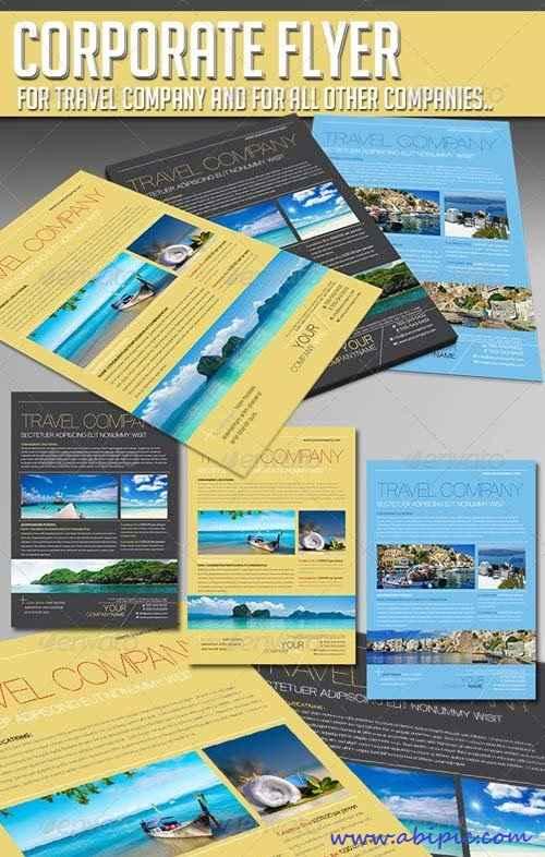 دانلود پوستر ایندیزاین تورها و شرکت های گردشگری Travel Company Template