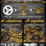 دانلود اکشن فتوشاپ ساخت مدل های 3 بعدی طلایی و نقره ای 3D Gold And Silver