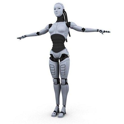 دانلود مدل 3بعدی آماده زن رباتی 3D Model Robot Woman 3ds max