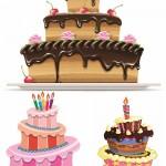 دانلود وکتور کیک تولد Birthday cake vector