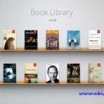 دانلود طرح لایه باز قفسه کتاب Book Library UI Kit