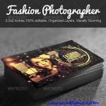 دانلود طرح لایه باز کارت ویزیت عکاس مدل Fashion Photographer Business Card