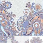 دانلود وکتور نقش و نگار های سنتی گلدار Decorative ornament Vector card