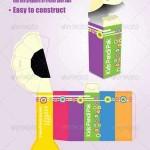 دانلود طرح وکتور بسته بندی مداد GraphicRiver – Pencil Package Template