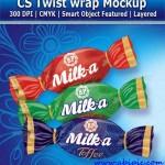 دانلود طرح موک آپ بسته بندی آبنبات پیچی Twist Wrap Candy Mockup