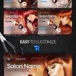 دانلود طرح لایه باز پوستر تبلیغاتی آرایشگاه زنانه Hair Salon Bussines Flyer