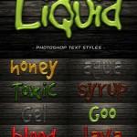 دانلود استایل متن فتوشاپ مایعات Liquid Text Photoshop Styles