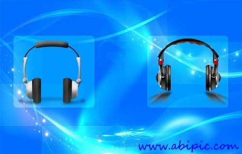 دانلود طرح لایه باز هدفون PSD Source - Headphones