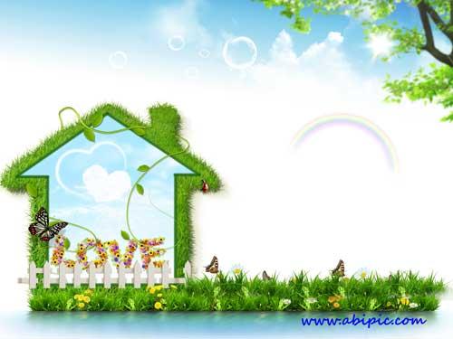 دانلود طرح سورس لایه باز فتوشاپ بهار PSD Source Love Spring 2013