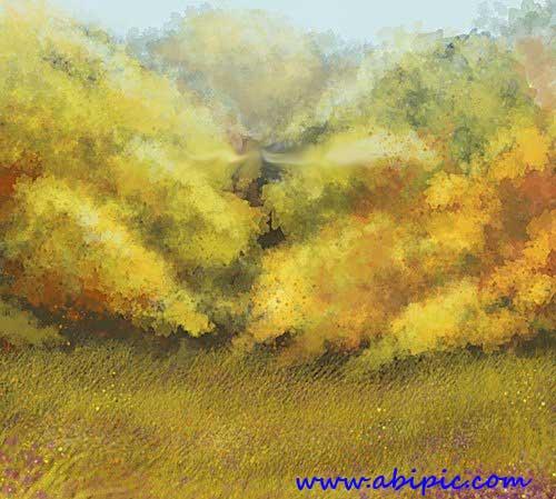 دانلود براش فتوشاپ ساخت منظره نقاشی شده Painterly Background brush