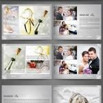 دانلود طرح ایندیزاین آلبوم عکس عروسی شماره 2 Photo Album A4 Landscape