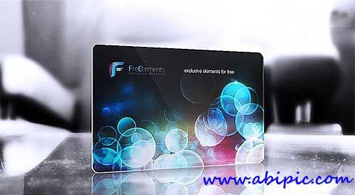 دانلود طرح موک آپ کارت ویزیت پلاستیکی Plastic Business Card Mockup PSD