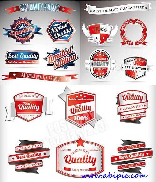 دانلود وکتور برچسب و لیبل کیفیت محصول شماره Quality labels 2