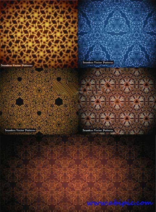 دانلود وکتور پترن لباس و پارچه ابریشمی Silk cloth pattern vector