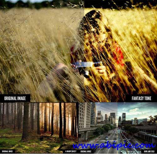 دانلود اکشن های افکت رنگی سینما Cinema Effects Photoshop Actions
