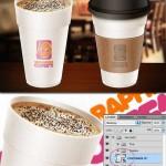 دانلود طرح موک آپ لیوان های کاغذی قهوه و چایی Coffee cup Mock-Up PSD