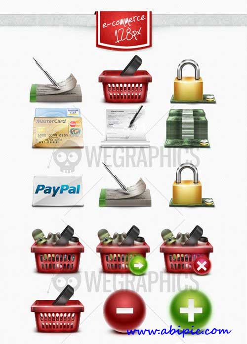 دانلود مجموعه آیکون های تجاری فروشگاهی  E-commerce icons