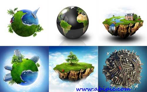 دانلود تصاویر استوک و کلیپ آرت کره زمین Round planet