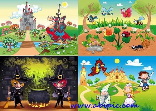 دانلود وکتور با طرح های کودکانه شماره 3 Children's Animated Vector Set