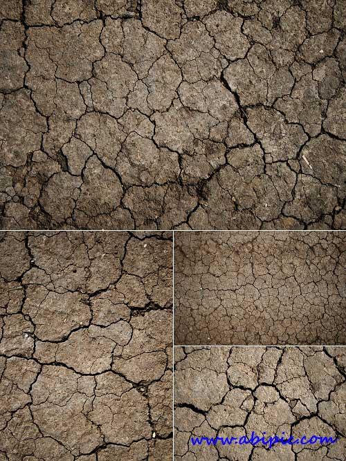 دانلود تکسچر زمین خشک و ترک خرده Cracked Ground Textures