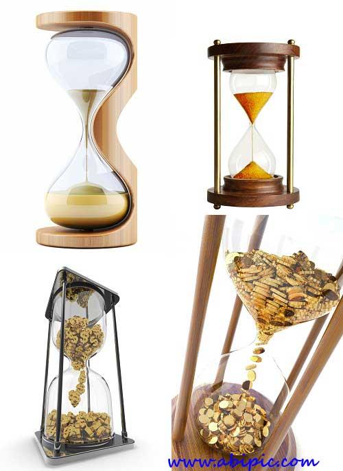 دانلود عکس استوک ساعت شنی Hourglasses Stock Photos
