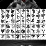 دانلود براش فتوشاپ انواع مختلف طرح خالکوبی و چاپی Mix tattoo brushes