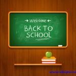 دانلود بک گراند لایه باز شروع مدرسه و کلاس Back to school Background PSD