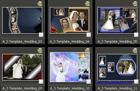 دانلود آلبوم دیجیتال عروس و داماد شماره 12 Photo Album Templates - Wedding