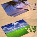 دانلود طرح لایه باز موک آپ ساخت پازل های سه بعدی 3D Jigsaw Puzzle Mockup