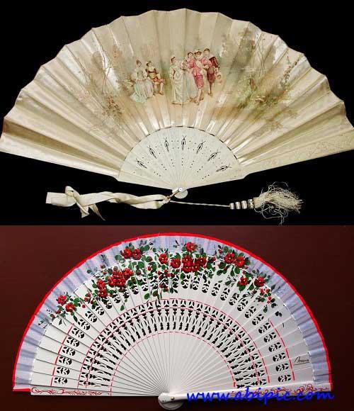 دانلود تصاویر با کیفیت بالا از بادبزن های قدیمی چینی Fans - Antique Retro