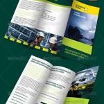 دانلود طرح لایه باز بروشور سه لت شرکت های نفتی Oil Industry Trifold Template