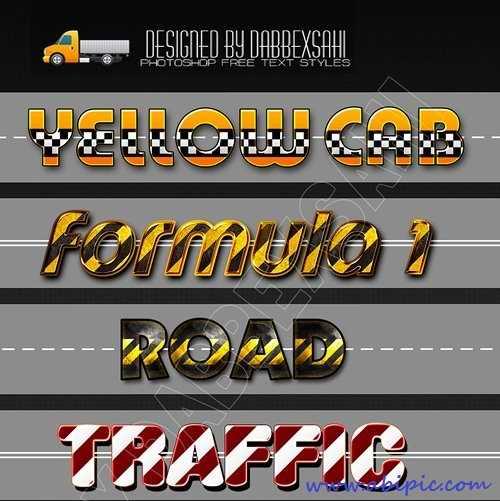 دانلود استایل با طرح جاده برای فتوشاپ Road Styles for Photoshop