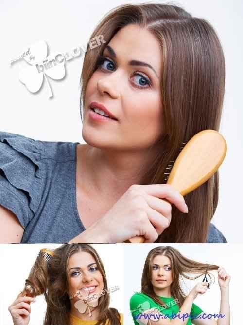 دانلود تصاویر استوک مراقبت از مو Stock Photo Hairbrush