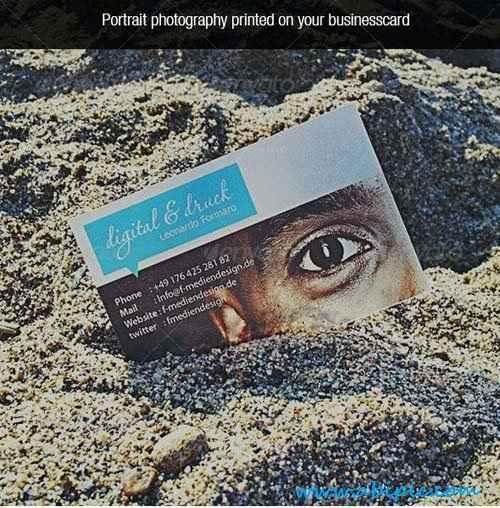 دانلود طرح لایه باز کارت ویزیت شفاف شماره 4 Transparent Photo Business Card
