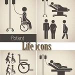 دانلود وکتور آیکون بیمارستان و سلامت Life icons