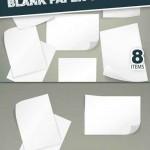 دانلود وکتور ورق خالی کاغذ Blank Paper Sheets