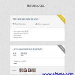 دانلود طرح لایه باز صفحه مشخصات برای سایت PSD Web Design Simple Infoblocks