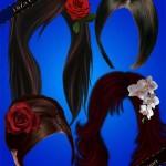 طرح لایه باز مو به همراه گل Hairstyles with the decorations and flowers