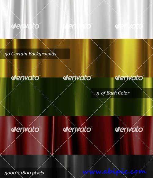 بک گراند لایه باز با طرح پرده Satin Curtain Backgrounds