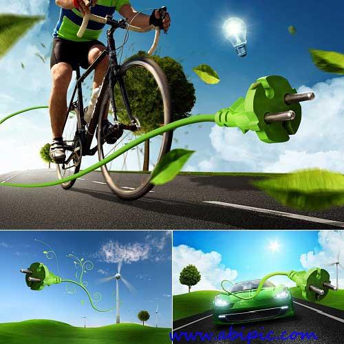 دانلود عکس استوک با موضوع انرژی پاک و تجدید پذیر Green Energy Stock photo