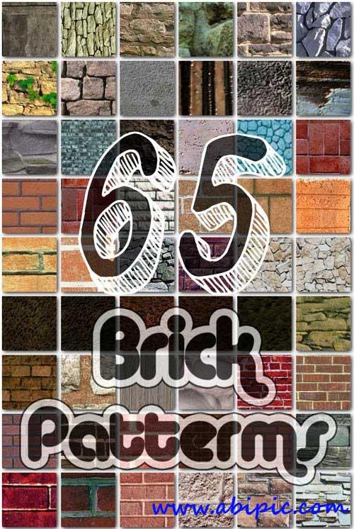 دانلود 65 طرح پترن آجری برای فتوشاپ Brick Patterns