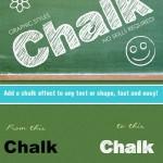 دانلود استایل ایلوستریتور ساخت متن با افکت گچ Chalk Board AI Graphic Style