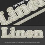 ابزار ساخت افکت متن کتانی دوره دوزی شده Linen Stitched Photoshop Effect