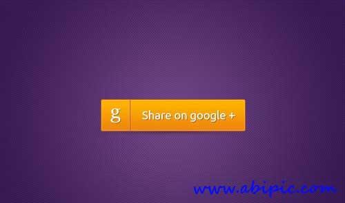 دانلود طرح لایه باز دکمه گوگل پلاس Google Plus Button PSD Resources