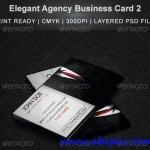 دانلود طرح لایه باز با طرح کت شماره 2  Elegant Agency Business Card